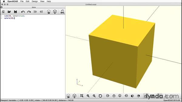 Adding a sphere: Creating a Captive Sphere with OpenSCAD
