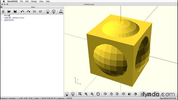 Increasing the resolution: Creating a Captive Sphere with OpenSCAD