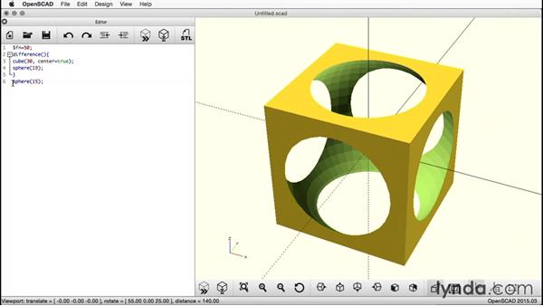Adding a second sphere: Creating a Captive Sphere with OpenSCAD