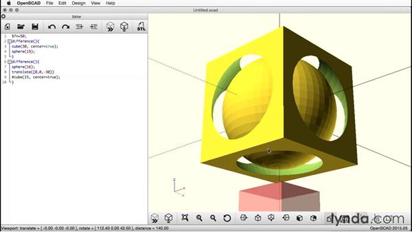 Reducing the cube: Creating a Captive Sphere with OpenSCAD