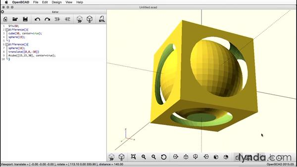 Exporting the object: Creating a Captive Sphere with OpenSCAD