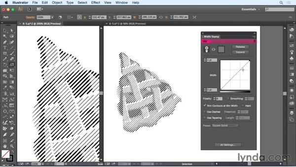 Using the Width Stamp panel: Up and Running with Astute Graphics for Illustrator