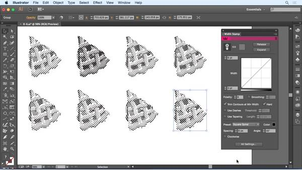 Using Width Stamp presets: Up and Running with Astute Graphics for Illustrator