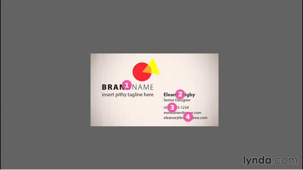 The layout of a business card: Designing a Business Card