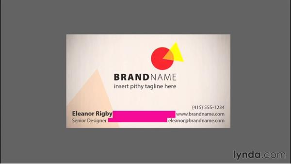 The alignment of elements on a business card: Designing a Business Card