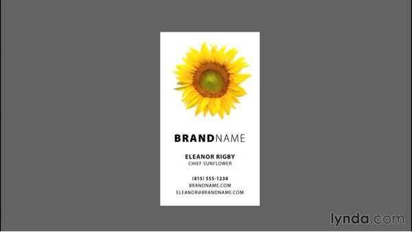 Incorporating imagery: Designing a Business Card