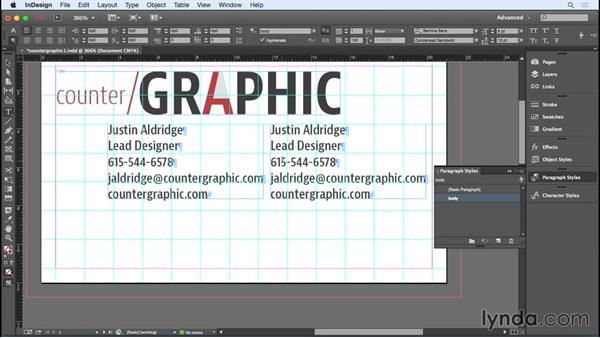 Positioning the logo and text: Designing a Business Card