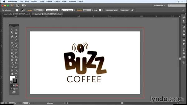Setting up the business card document in Illustrator: Designing a Business Card