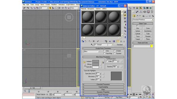 The Material Editor interface: 3ds Max 2009 Beyond the Basics