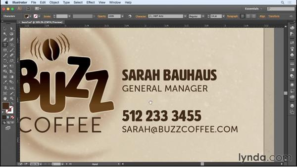 Finessing the text: Designing a Business Card