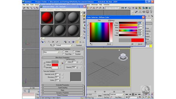 Creating the main body color: 3ds Max 2009 Beyond the Basics
