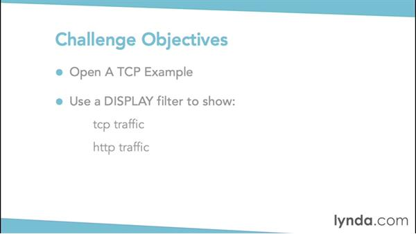 Challenge: Filtering the data that is displayed: Troubleshooting Your Network with Wireshark