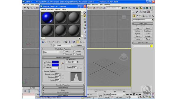 Adding and controlling shine: 3ds Max 2009 Beyond the Basics