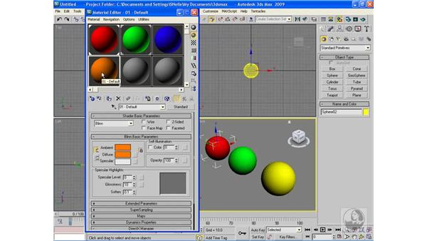 Applying materials: 3ds Max 2009 Beyond the Basics
