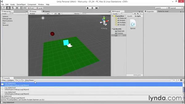 Welcome: Debugging Scripts in Unity