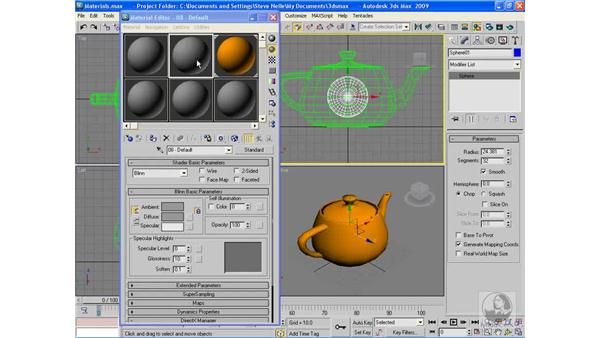 Retrieving a scene material: 3ds Max 2009 Beyond the Basics
