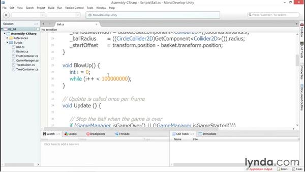 Optimize your app with the built-in Profiler: Debugging Scripts in Unity