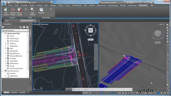 Understanding the task: Civil 3D: Intersecting New Roads with Existing Roads
