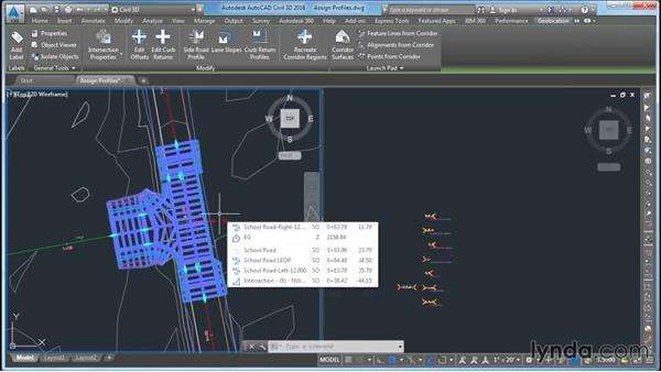Assigning the alignment and profile: Civil 3D: Intersecting New Roads with Existing Roads
