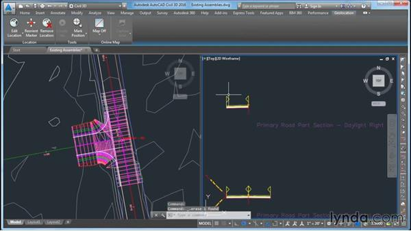 Modifying the existing road assemblies: Civil 3D: Intersecting New Roads with Existing Roads