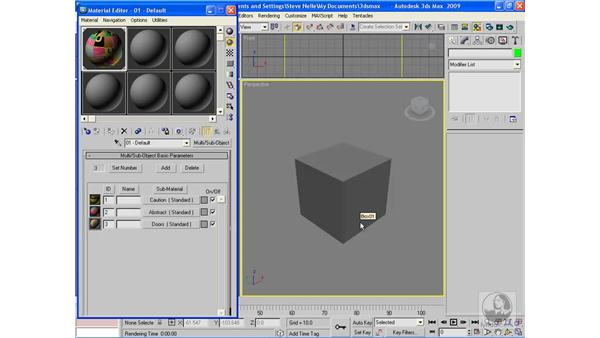Building a multi/sub-object material: 3ds Max 2009 Beyond the Basics