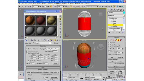 Sub-object mapping: 3ds Max 2009 Beyond the Basics