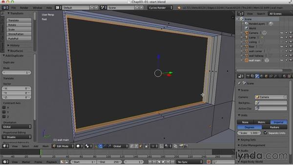 Creating the windows: Creating an Interior Scene with Blender