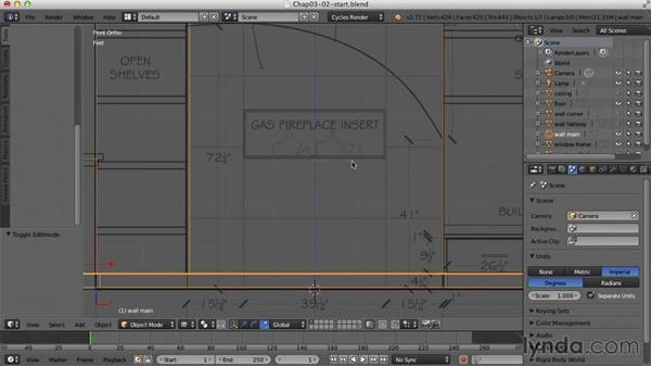 Detailing the walls: Creating an Interior Scene with Blender