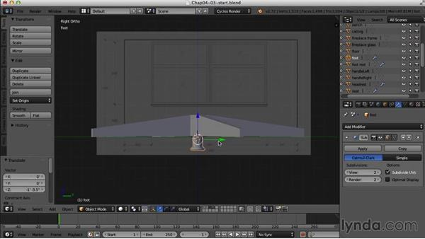 Finishing the Eames chair: Creating an Interior Scene with Blender