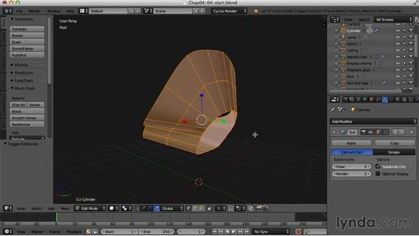 Starting the womb chair: Creating an Interior Scene with Blender