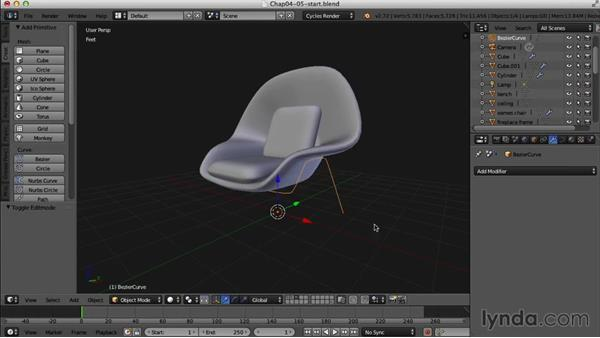 Finishing the womb chair: Creating an Interior Scene with Blender