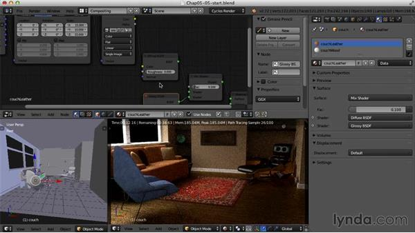 Color adjustments in the Node Editor: Creating an Interior Scene with Blender