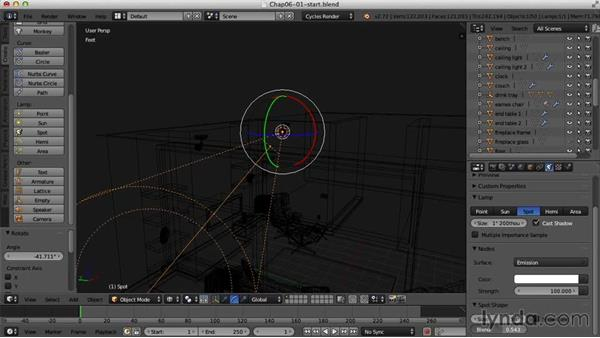 Adding practical lights to the scene: Creating an Interior Scene with Blender