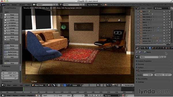 Rendering the final image: Creating an Interior Scene with Blender