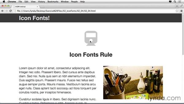 Add a hover state to icon fonts: Making Your Site Retina-Ready