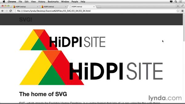Adding an SVG file (.svg) to your page: Making Your Site Retina-Ready