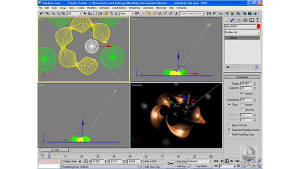 Preventing objects from casting shadows: 3ds Max 2009 Beyond the Basics