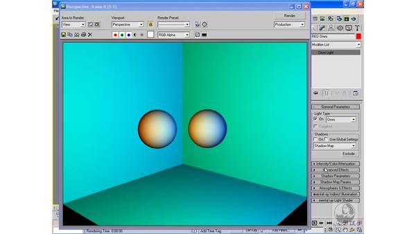 Excluding objects from light: 3ds Max 2009 Beyond the Basics