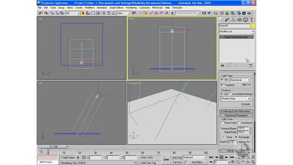 Projector lights: 3ds Max 2009 Beyond the Basics