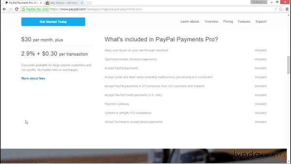 Connecting PayPal with your ecommerce sites: PayPal Essential Training