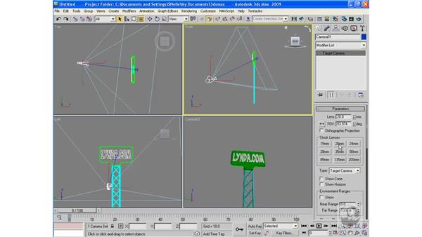 Changing a camera's lens length: 3ds Max 2009 Beyond the Basics