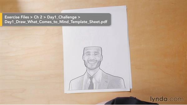 Day 1 challenge: Draw what comes to mind: 5-Day Drawing Challenge: Drawing Your Own Reality