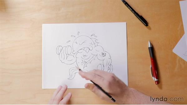 Day 2 solution: Mash-up drawing: 5-Day Drawing Challenge: Drawing Your Own Reality