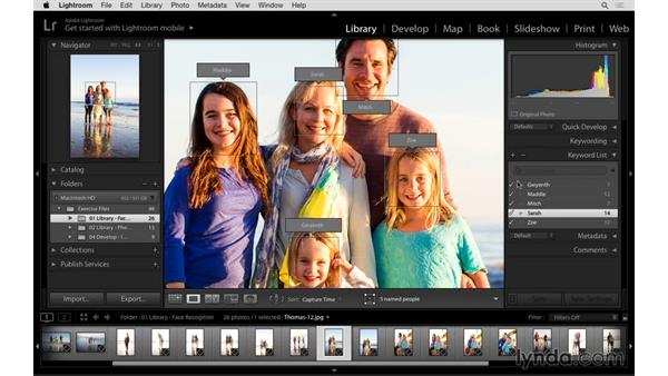 Filtering and finding photographs of specific people: Lightroom: 2015 Creative Cloud Updates