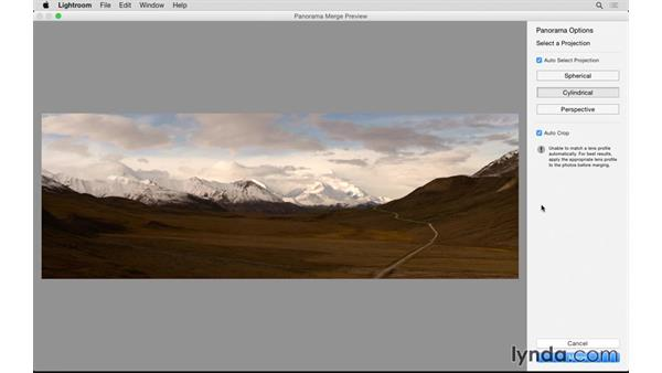 Creating a pano with Photo Merge: Lightroom: 2015 Creative Cloud Updates