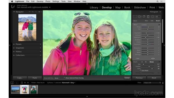 Improving a portrait with the Graduated Filter Brush: Lightroom: 2015 Creative Cloud Updates
