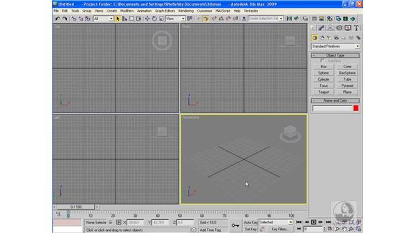 Animation controls in the interface: 3ds Max 2009 Beyond the Basics