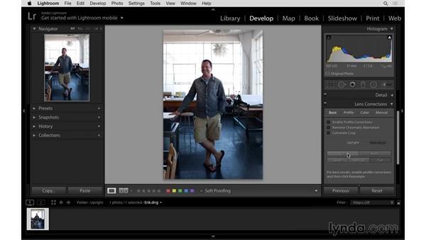 Perspective correction shortcut: Lightroom: 2015 Creative Cloud Updates