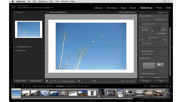 Slideshow improvements: Panning, music, and previews: Lightroom: 2015 Creative Cloud Updates
