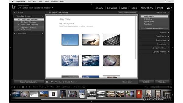 New web galleries optimized for desktop and mobile: Lightroom: 2015 Creative Cloud Updates